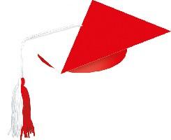 Birety w pełnym kolorze z biało-czerwonym kucotem + gumka